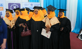 Students graduating from Mogadishu Midwifery School