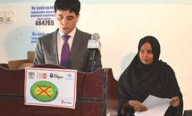 Bakhtior Kadirov UNFPA Head of Garowe Sub-Office makes a speech